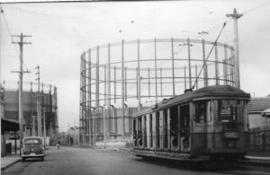 AGL Gasometers and Tram
