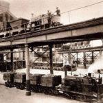 Locomotives transporting coal