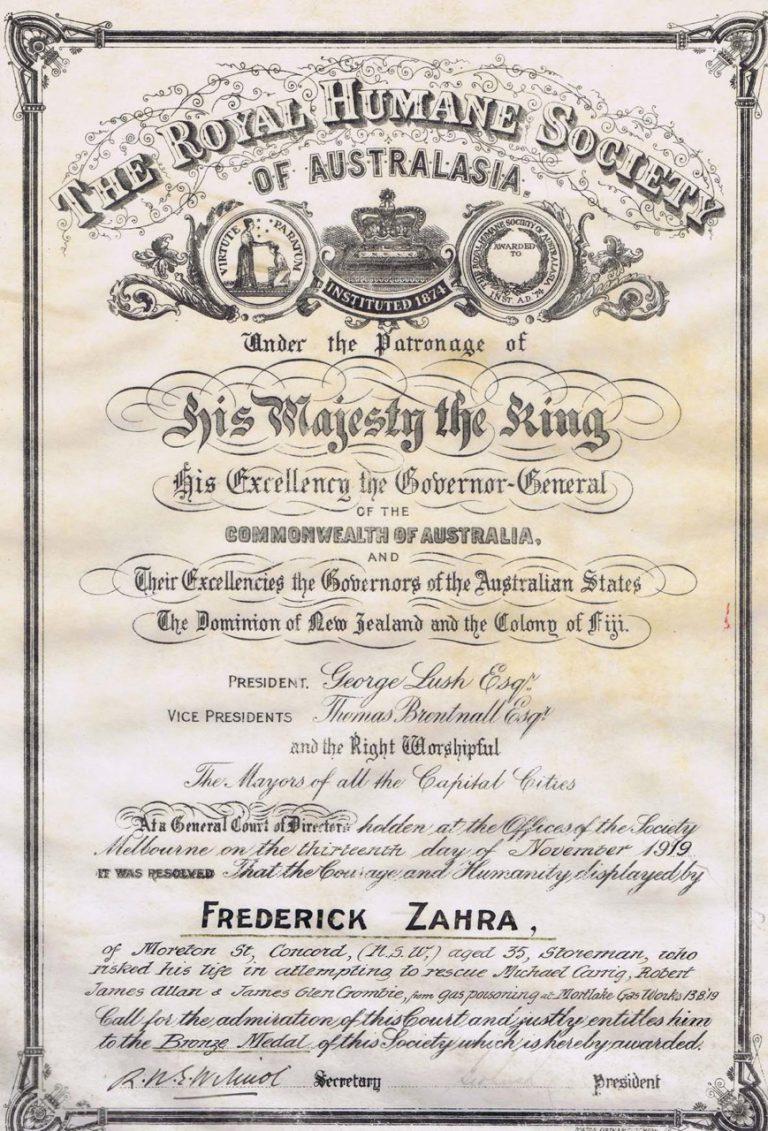 Remarkable Lives:  Frederick Zahra