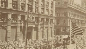 Celebrating the signing of the Armistice in Martin Place 12/11/18