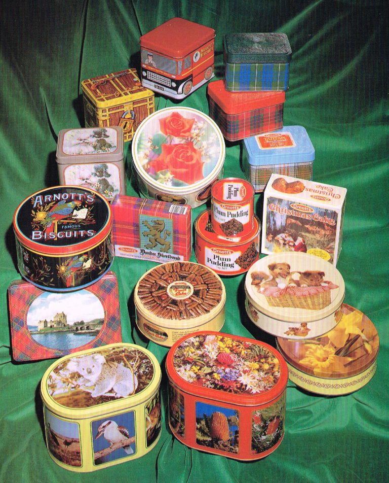The Arnott's Biscuit Tins