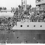The adventure begins for a group of Australian nurses departing in the troopship HMAT Euripides, Melbourne, May 1916.