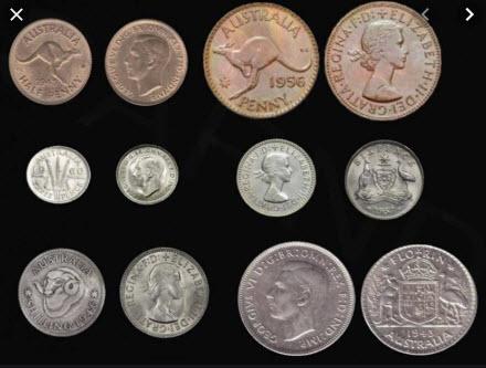Pre-decimal coins