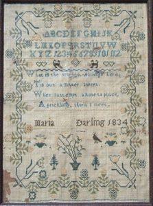Sampler 1834 Maria Darling