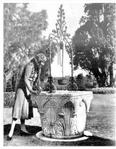 1920 Herbert Fishwick photo of Yaralla Wishing Well.