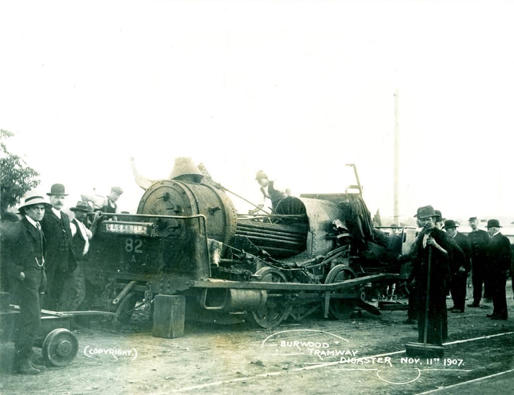 Steam tram boiler explosion