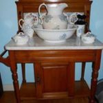 Washstand and toilet set