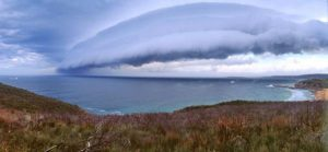 A Southerly Buster approaching
